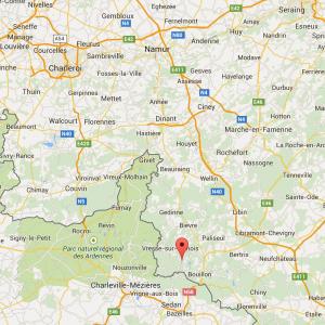 Copie écran de la carte Google pour situer le gîte de Laviot (Rochehaut)