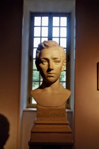Sculpture portrait de Rimbaud