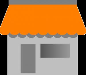 image vectorielle d'une boutique